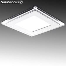 Downlight led cuadrado con cristal duo (blanco/azul) 185x185mm 20w 1600lm blanco