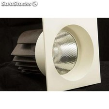 Downlight LED cuadrado fijo 12w 4000K