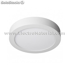 Downlight led de superficie circular blanco de 12w luz fría 6000k