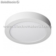 Downlight led de superficie circular blanco de 18w luz fría 6000k
