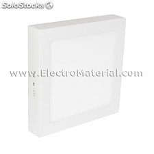 Downlight led de superficie cuadrado blanco de 18w luz cálida 3000k
