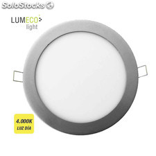 Downlight led empotrable 18w 6000k aro plata