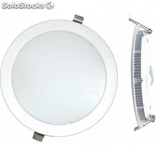 Downlight Led Empotrar Plano Blanco-6000K 18W Silver Electr