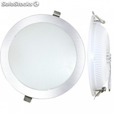 Downlight Led Empotrar Plano Plata-4000K 25W