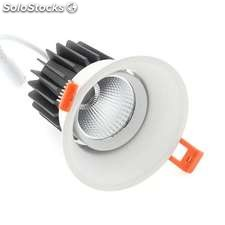Downlight led hotel rb cree 12w regulable blanco frío regulable
