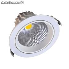 Downlight Led Round COB basculante 16W, Blanco cálido