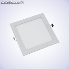 Downlight LED slim cuadrado 18W blanco 4.000k / 6.000k
