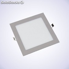 Downlight LED slim cuadrado 18W plata 4.000k / 6.000k