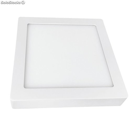Downlight Led Superficie Cuadrado Blanco 4000K 20W 1500Lm