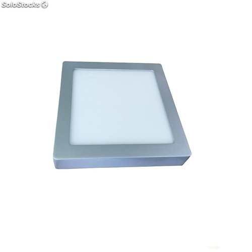 Downlight Led Superficie Cuadrado Plata 4000K 20W 1500Lm
