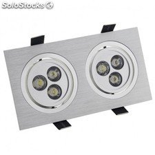 Downlight rectangular 2x3x1w