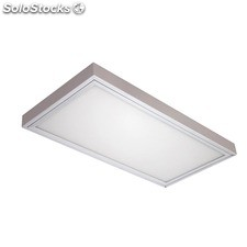 Downlight rectangular aluminio cepillado Combi LED 24W 4000K 2200Lm