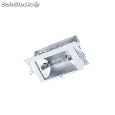 Downlight rectangular escaparates blanco Sinope RX7s 70W IP40