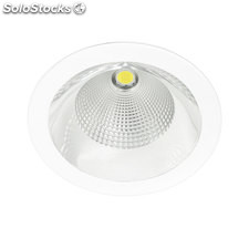 Downlight redondo blanco Solid Plata LED COB 26W 3000K 1491Lm 65º
