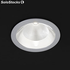 Downlight redondo gris Solid Plata LED COB 26W 3000K 1491Lm 65º