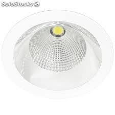 Downlight redondo gris Solid Plata LED COB 26W 3000K 1491Lm 65º regulable