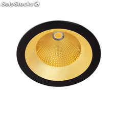 Downlight redondo negro Solid Oro LED COB 26W 3000K 1907Lm 65º
