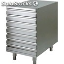 Drawer set for pizza dough container - stainless steel - dimensions cm l52 x d80