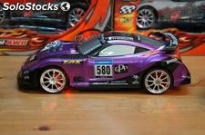Drifting car 1:18 radio control nissan gt 4WD PURPURA rc super derrapajes