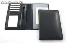 Drivinglicense Case. Black Bonded Leather