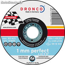 Dronco A60R-115 - Disco de corte metal a 60 r Perfect Express, 115...