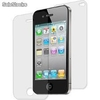 Dual front+back protectores de pantallas protector mica for iphone 4 iphone 4s
