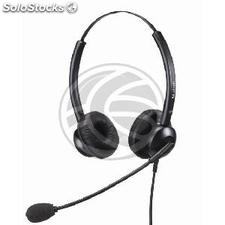 Dual headset with microphone compatible with Plantronics QD model KG02 (KG02)