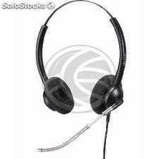 Dual headset with microphone Compatible with Plantronics QD model KG04 (KG04)
