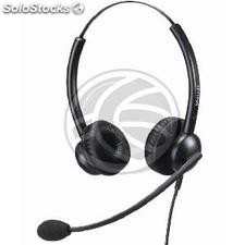 Dual headset with microphone Compatible with Plantronics QD model KG06 (KG06)