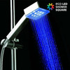 Ducha con Luz Cuadrada Eco Led Shower - Foto 1