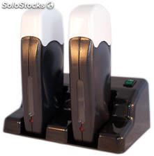 Duo Dockingstation black & White Serie 2 Calentadores Roll on + Base