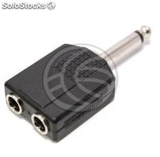 Duplicator 6.3mm mono audio jack 6.3mm male to female 2xjack (AY13)