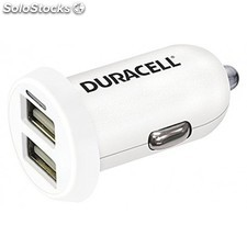 Duracell - In-Car USB Charger Auto Blanco cargador de dispositivo móvil