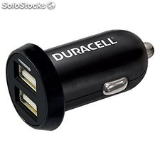 Duracell - In-Car USB Charger Auto Negro cargador de dispositivo móvil