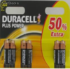 Duracell Plus Power AA 6 Pack -Stilo