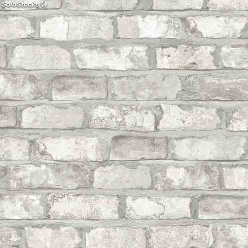Dutch Wallcoverings Papel De Pared Ladrillos Blanco Ew3104 - Pared-ladrillo-blanco