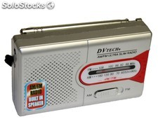 Dv Tech - Radio portátil AM/FM modelo slim