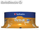 Dvd-r 4.7 Gb 16x Matt Silver Pack De 25 Uds.