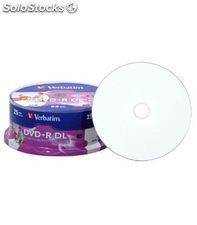Dvd+r 8.5gb 8x doble capa. imprimible ink bobina 25 unidades verbatim 47667
