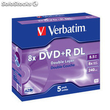 DVD+r doble capa verbatim advanced