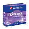 DVD+r doble capa verbatim advanced azo 8X 8.5GB 5 unidades