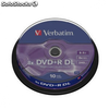 DVD+r doble capa VERBATIM advanced azo 8x 8.5gb tarrina 10 unidades