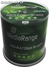 Dvd+r mediarange 16x cake 100 - 4,7GB - mr443