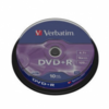 Dvd+r verbatim advanced azo 16x 4.7gb tarrina 10 unidades