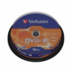 Dvd-r verbatim advanced azo 16x 4.7gb tarrina 10 unidades