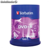 DVD+r VERBATIM advanced azo 16x 4.7gb tarrina 100 unidades