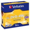 DVD+r verbatim doble capa jewel case 5 pack