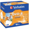 Dvd-r verbatim imprimible pack 10 uds 16x jewel case