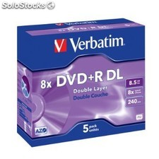 DVD+rdl 8x 8.5GB Verbatim Doble Capa jc Pack-5