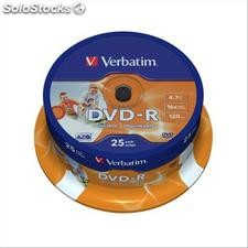 DVD Verbatim - DVD-R - 4,7 Gb - 16x - Printable - Spindle - 43538 (conf.25)